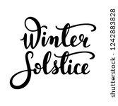 winter solstice   handwritten... | Shutterstock .eps vector #1242883828