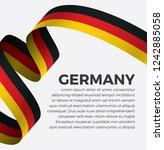 germany flag  vector... | Shutterstock .eps vector #1242885058