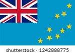 tuvalu flag  vector image and... | Shutterstock .eps vector #1242888775