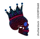 king skull icon with crown ... | Shutterstock .eps vector #1242893668