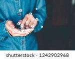 online banking businessman...   Shutterstock . vector #1242902968