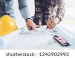 engineer meeting for...   Shutterstock . vector #1242902992