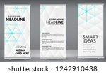 set three roll up banner white... | Shutterstock .eps vector #1242910438