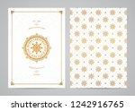 christmas greeting card design. ... | Shutterstock .eps vector #1242916765