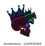 king skull icon with crown ... | Shutterstock .eps vector #1242920365