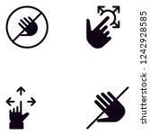 touch hand gestures detailed... | Shutterstock .eps vector #1242928585