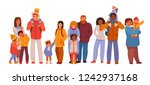 group of people with children.... | Shutterstock .eps vector #1242937168