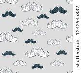 seamless pattern of male... | Shutterstock .eps vector #1242945832