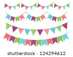 garland decoration | Shutterstock .eps vector #124294612
