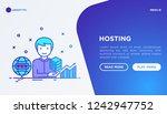 hosting service concept ... | Shutterstock .eps vector #1242947752