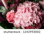 bright colorful bouquet of... | Shutterstock . vector #1242953002