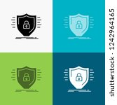 defence  firewall  protection ... | Shutterstock .eps vector #1242964165