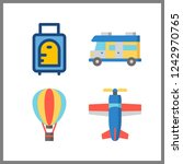 4 trip icon. vector... | Shutterstock .eps vector #1242970765