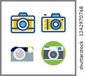 4 photographer icon. vector... | Shutterstock .eps vector #1242970768