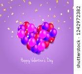 heart shaped balloons for... | Shutterstock .eps vector #1242972382
