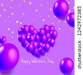 heart shaped balloons for... | Shutterstock .eps vector #1242972385