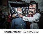 milan  italy   may 1  mayday... | Shutterstock . vector #124297312