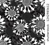 seamless pattern with... | Shutterstock .eps vector #1242985612