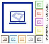 screen saver on laptop flat... | Shutterstock .eps vector #1242990388