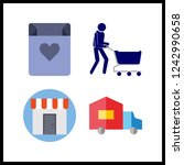 4 purchase icon. vector... | Shutterstock .eps vector #1242990658