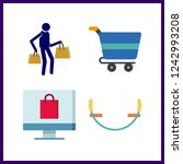 4 purchase icon. vector... | Shutterstock .eps vector #1242993208