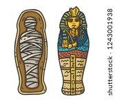 ancient egyptian pharaon... | Shutterstock .eps vector #1243001938