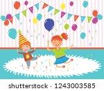 vector illustration of kids... | Shutterstock .eps vector #1243003585