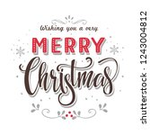 merry christmas  text ... | Shutterstock .eps vector #1243004812