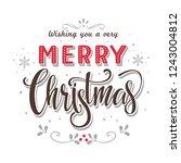 merry christmas  text ...   Shutterstock .eps vector #1243004812