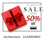 christmas sale   illustration | Shutterstock .eps vector #1243004842