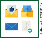 4 send icon. vector... | Shutterstock .eps vector #1243006135