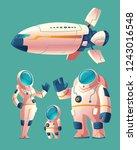 spaceman family  people in... | Shutterstock . vector #1243016548