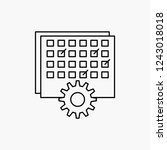 event  management  processing ... | Shutterstock .eps vector #1243018018