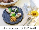 "snack ""forshmak"" in the form of ... | Shutterstock . vector #1243019698"