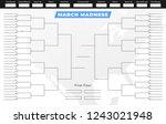 march madness tournament... | Shutterstock .eps vector #1243021948