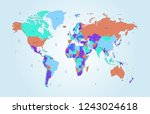 color world map vector | Shutterstock .eps vector #1243024618