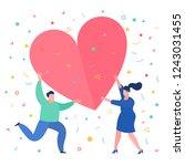 concept of love. mini people... | Shutterstock .eps vector #1243031455