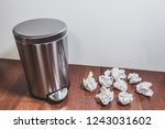household trash and garbage... | Shutterstock . vector #1243031602