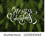merry christmas background... | Shutterstock .eps vector #1243033465
