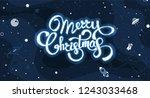 christmas background greeting... | Shutterstock .eps vector #1243033468