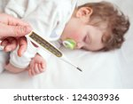 pediatrician measure the... | Shutterstock . vector #124303936