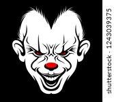 scary clown face vector | Shutterstock .eps vector #1243039375