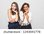 portrait of pretty charming... | Shutterstock . vector #1243041778