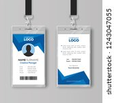 creative id card template with... | Shutterstock .eps vector #1243047055