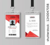 modern id card template with... | Shutterstock .eps vector #1243047058
