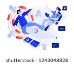 virtual reality illustration.... | Shutterstock .eps vector #1243048828