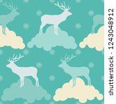 seamless vector background with ... | Shutterstock .eps vector #1243048912
