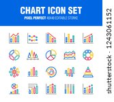 this is a set of chart icons. ... | Shutterstock .eps vector #1243061152