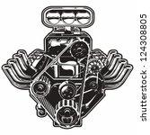 detailed cartoon turbo engine....   Shutterstock .eps vector #124308805