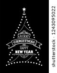 merry christmas and happy new... | Shutterstock .eps vector #1243095022